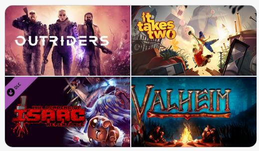 Steam'de haftanın çok satan oyunları:1. Outriders2. It Takes Two3. Binding of Isaac: Repentance4. Valheim5. Valve Index VR6. Horizon Zero Dawn7. Evil Genius 2: World Domination8. ESO: Crown Packs9. CS GO: Broken Fang DLC10.Cyberpunk 2077